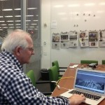 NYT Graphics editor Joe Ward showing the parallax scrolling features of Snow Fall.