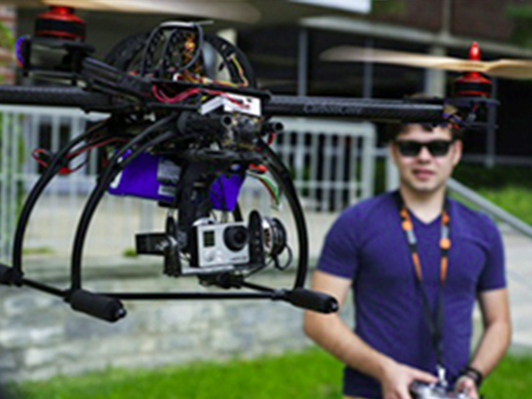 FLYABLES: Arland Whitfield, SU student and drone photographer, will show how heads-up displays can be used to receive live video feeds from camera-equipped drones.